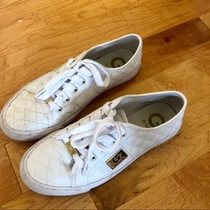 Guess white slip on sneakers
